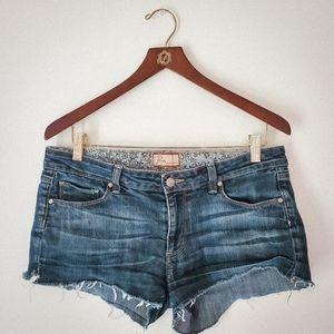 Paige Canyon Cutoff Denim Shorts